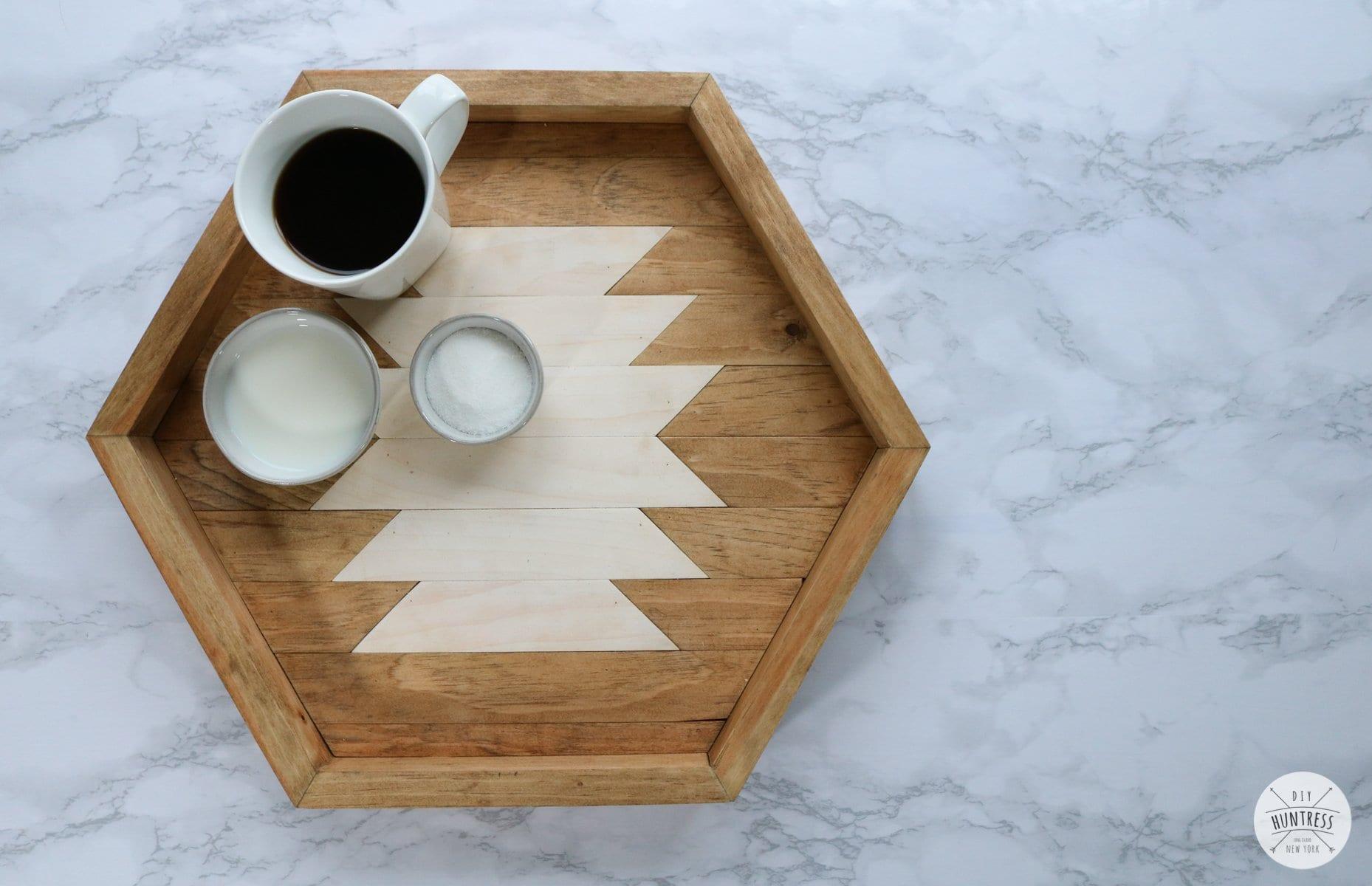 DIY Hexagon Serving Tray