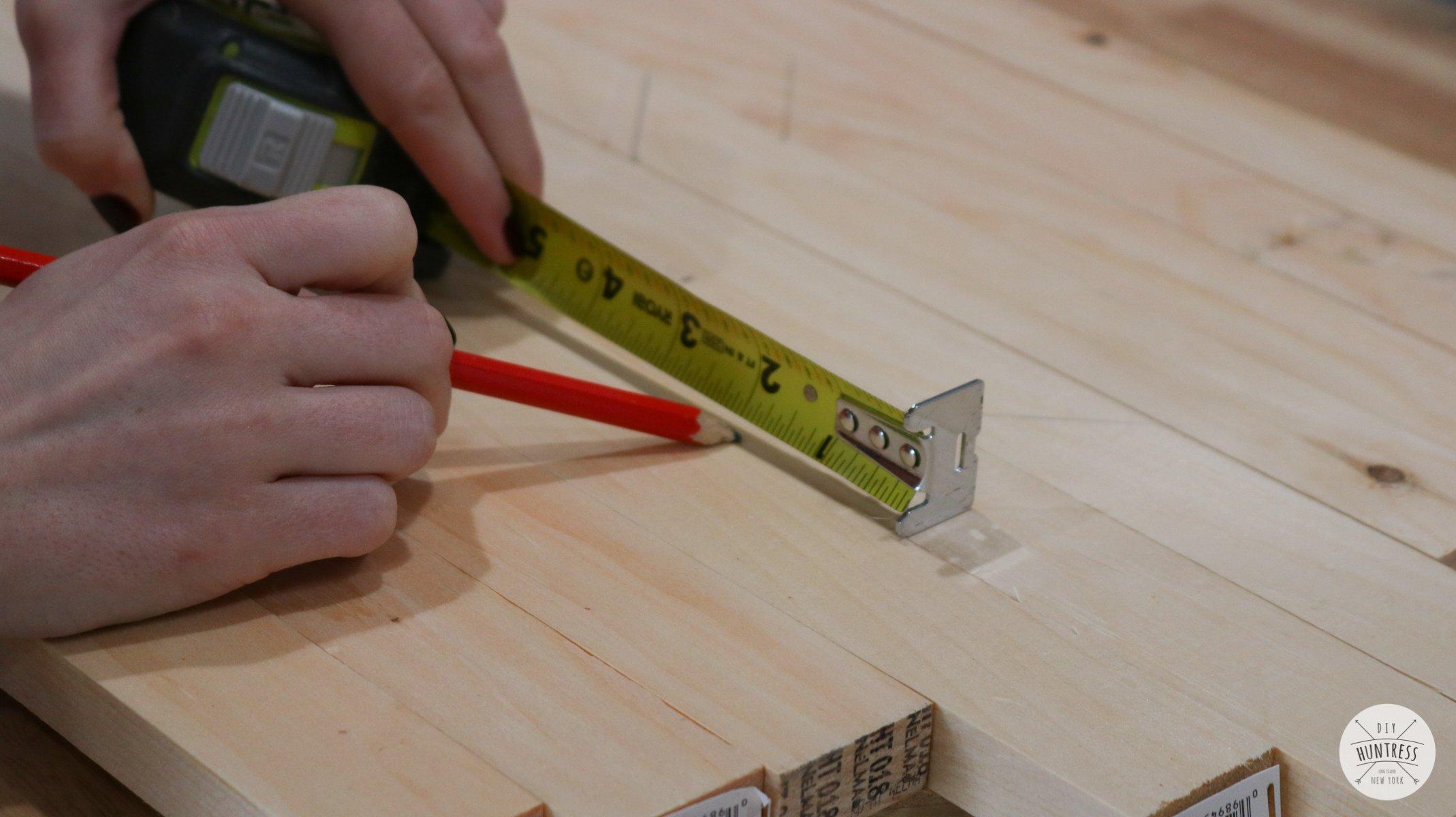 diy geometric wood art tray