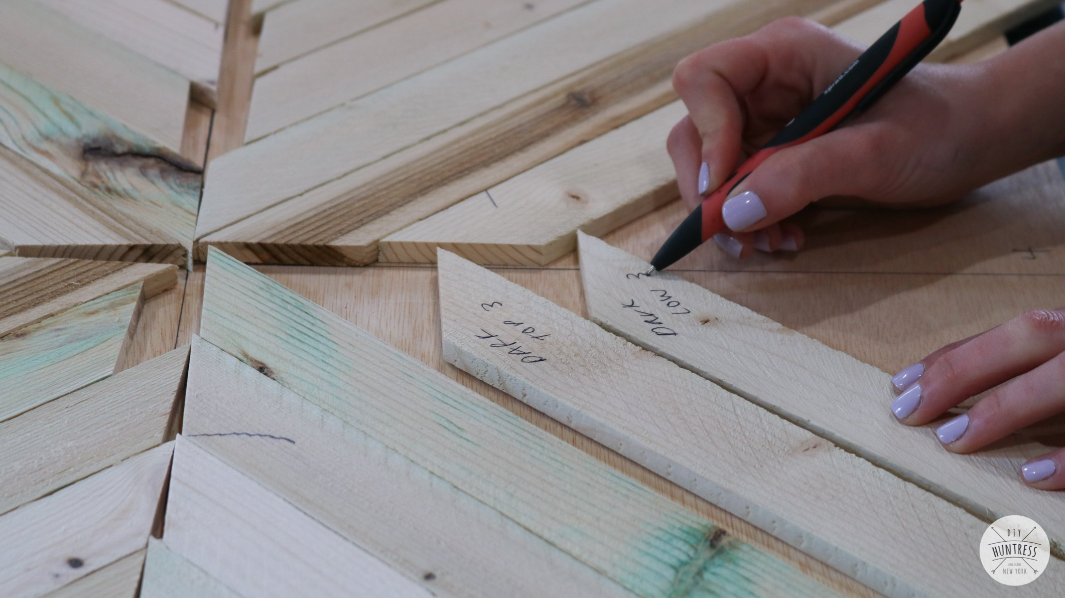 how to label pieces of wood