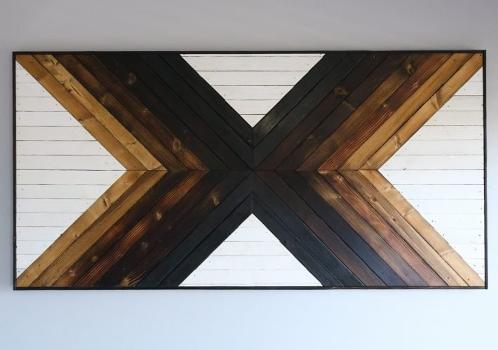geometric wood art