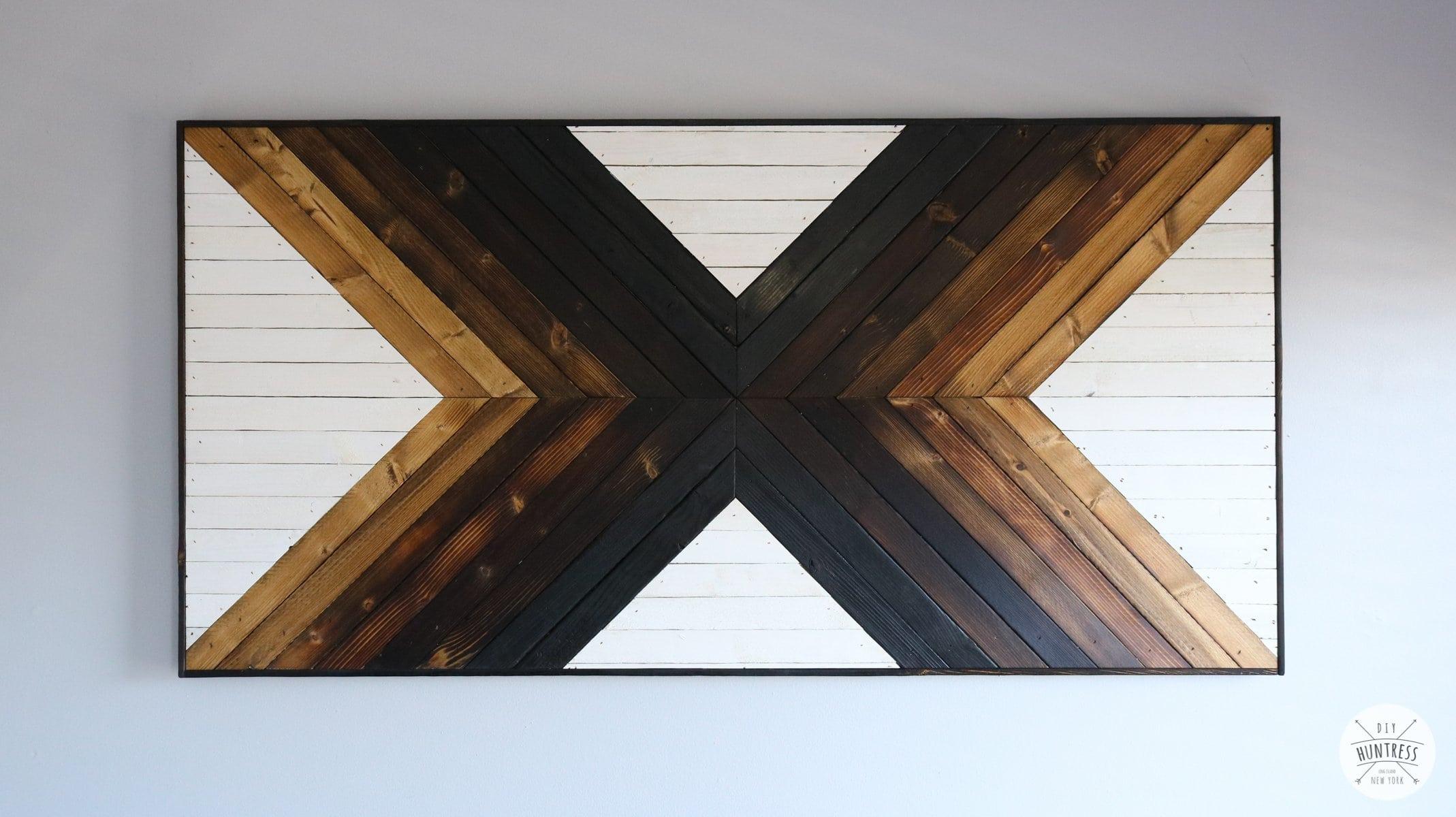 DIY Ombre Geometric Wood Art