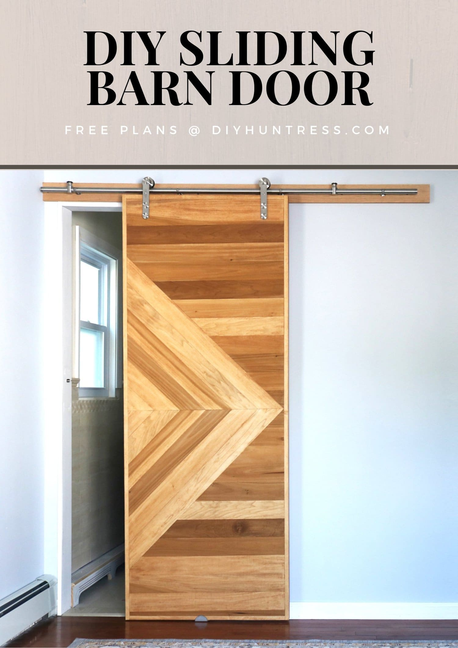 Diy Modern Sliding Barn Door Diy Huntress