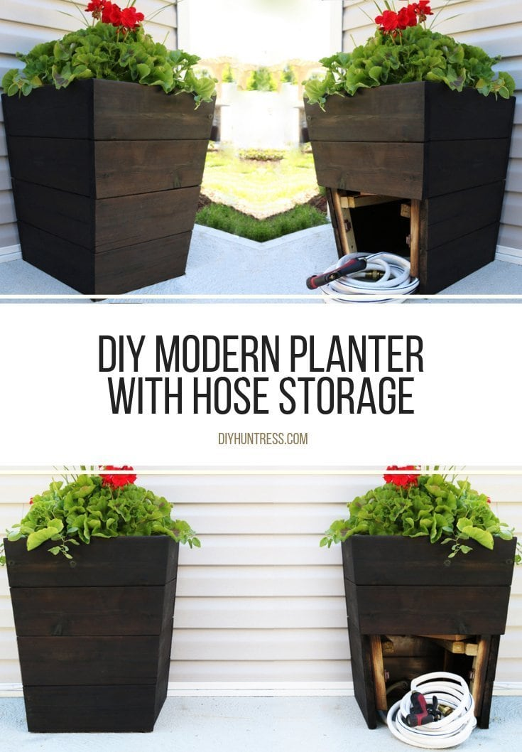 how to build a planter with hidden hose storage