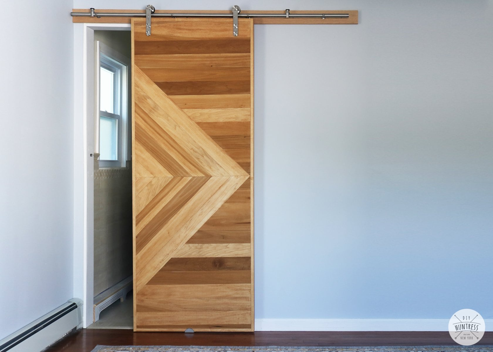 DIY Modern Sliding Barn Door