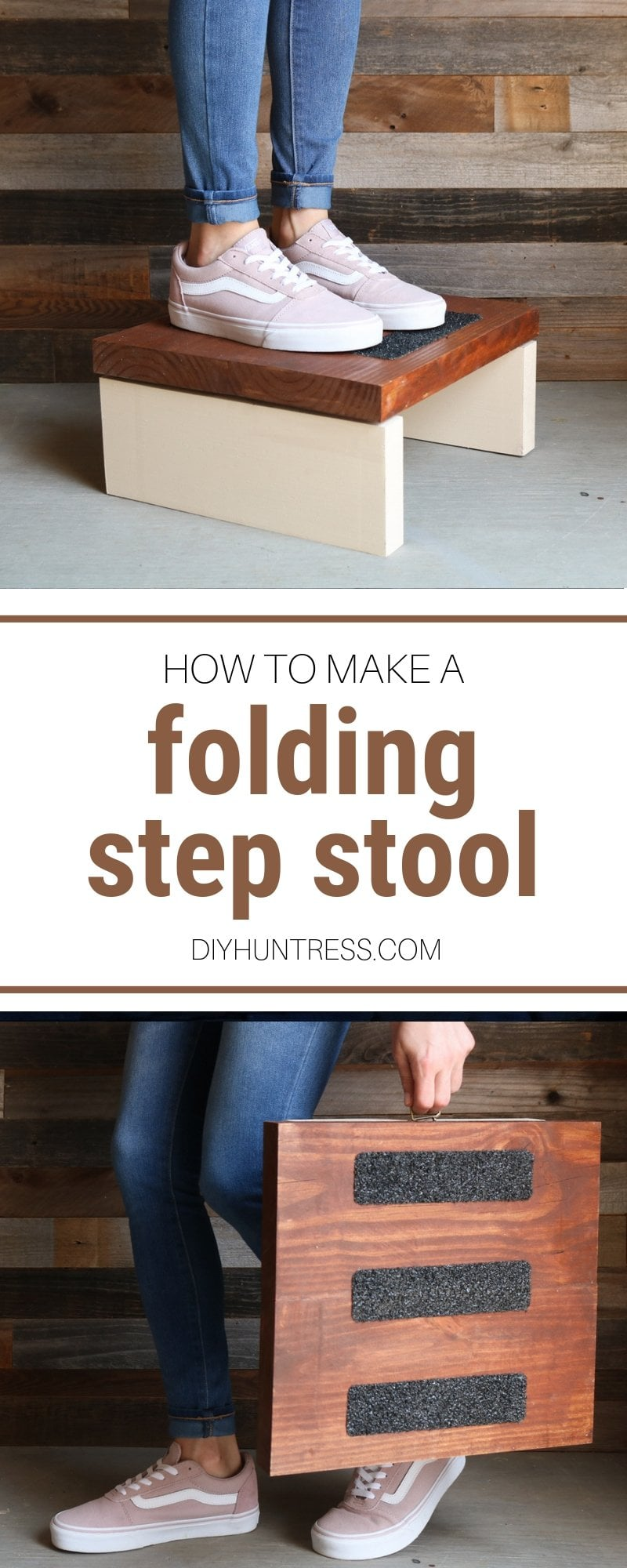 how to make a folding step stool