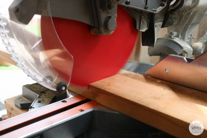 how to cut 2x8 with miter saw