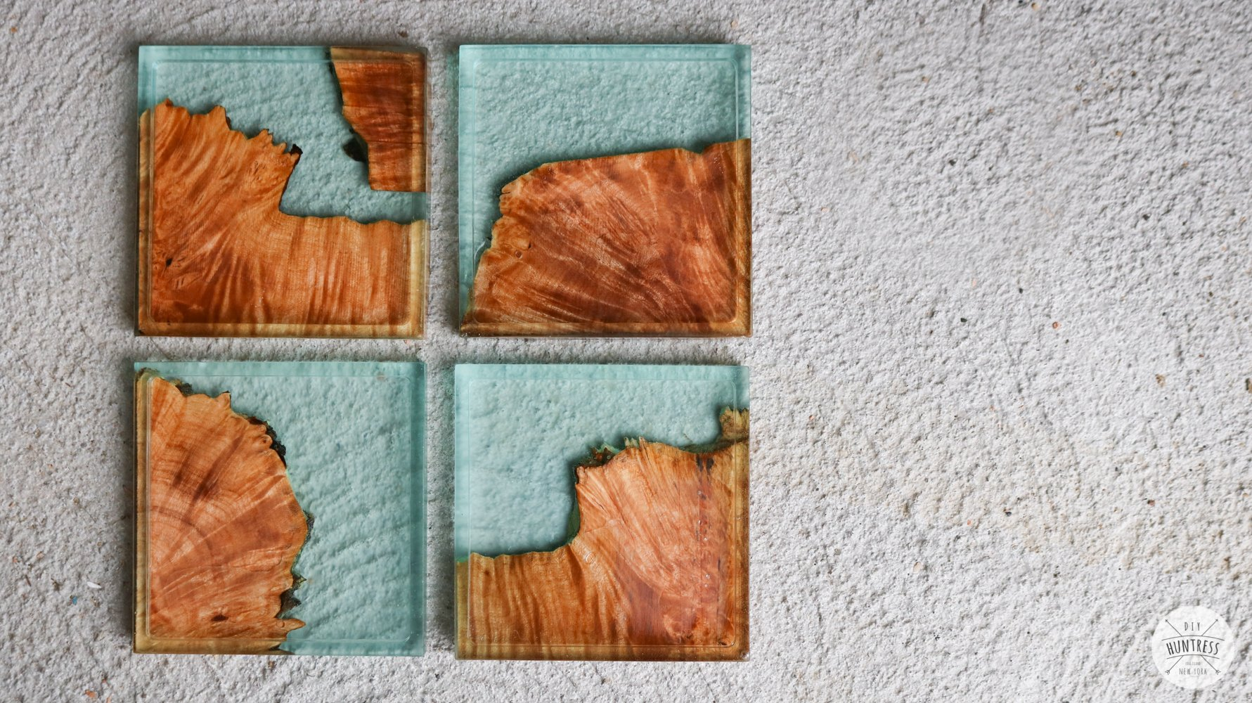 resin and wood coaster