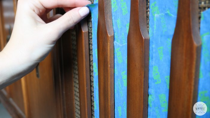 how to protect furniture when staining