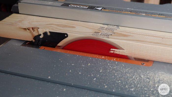 trim round edges off of 2x4 boards