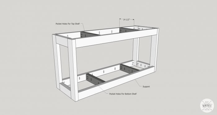 installing supports for furniture