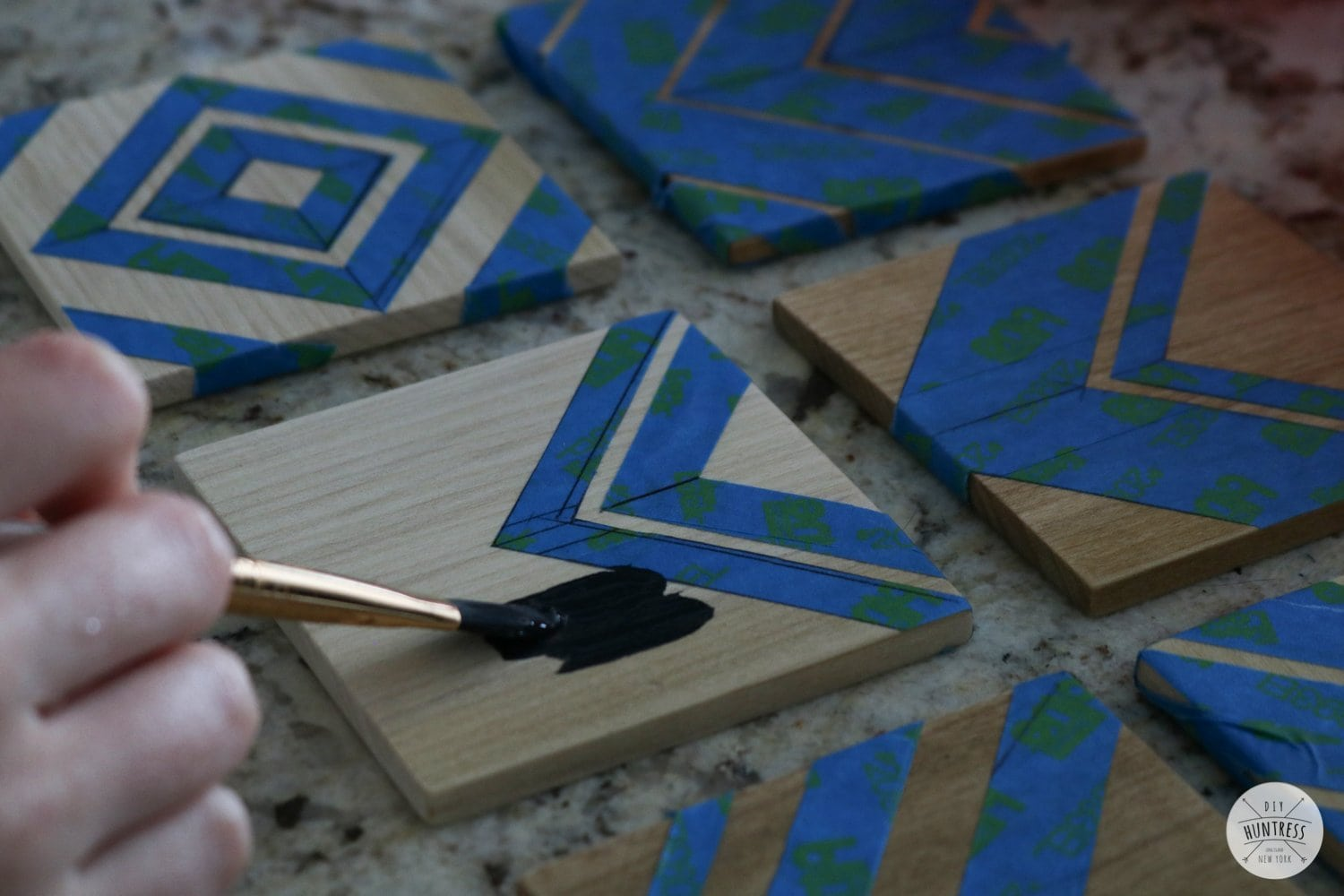 how to make painted coasters