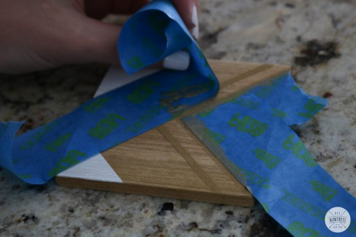 how to layer paint with tape