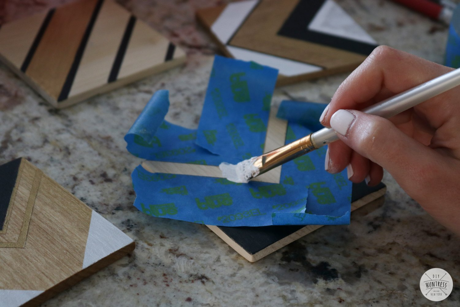 how to make stencils with tape