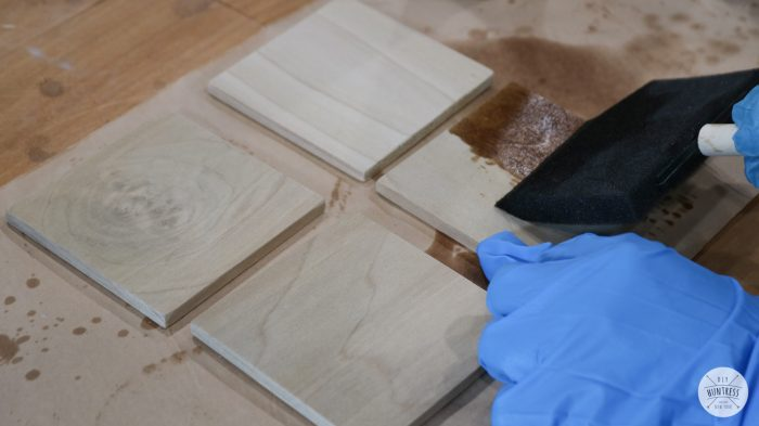 how to stain coasters
