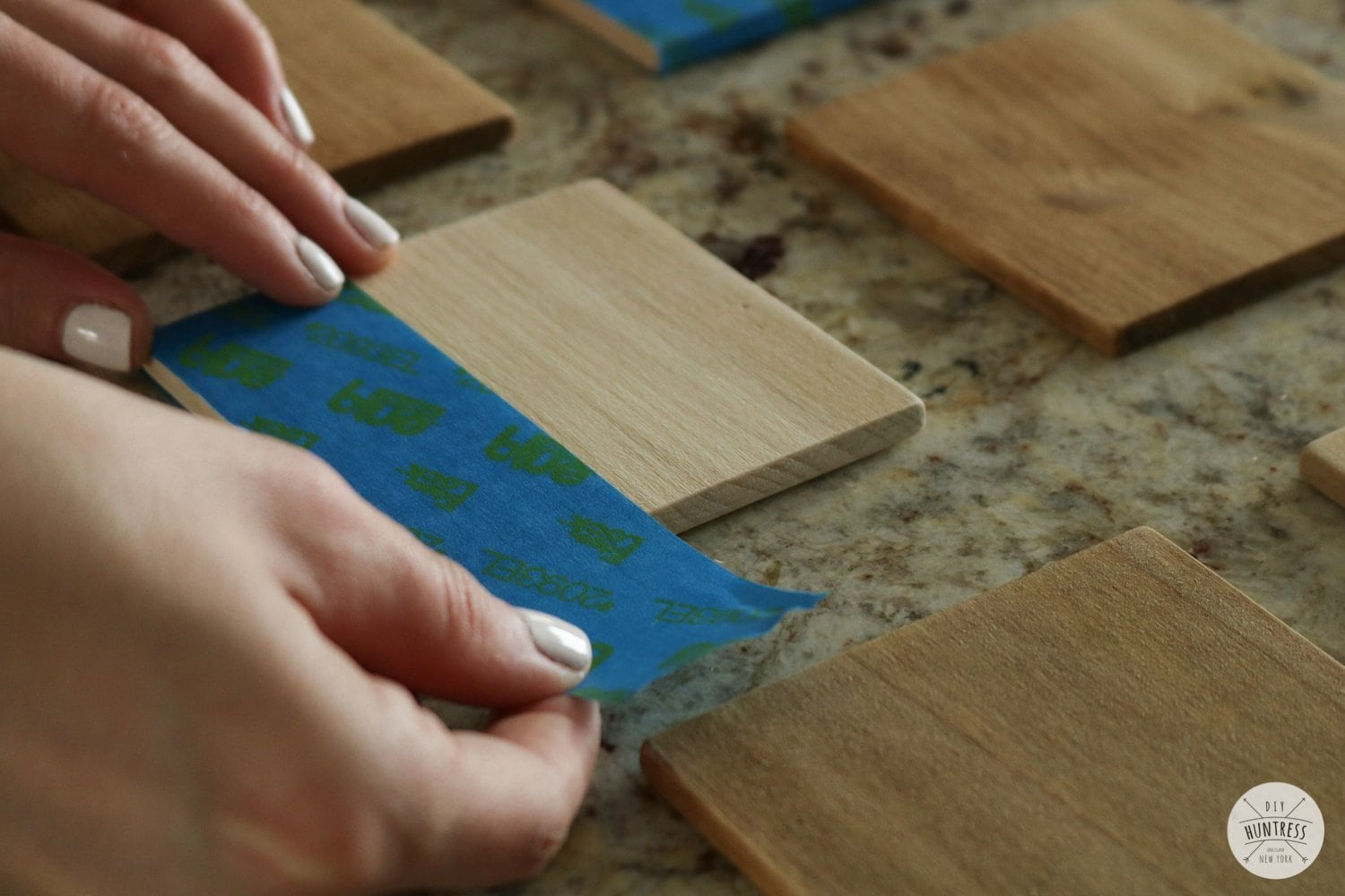 how to make scrap wood coasters