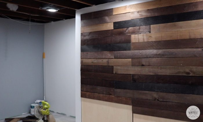 barn wood board accent wall
