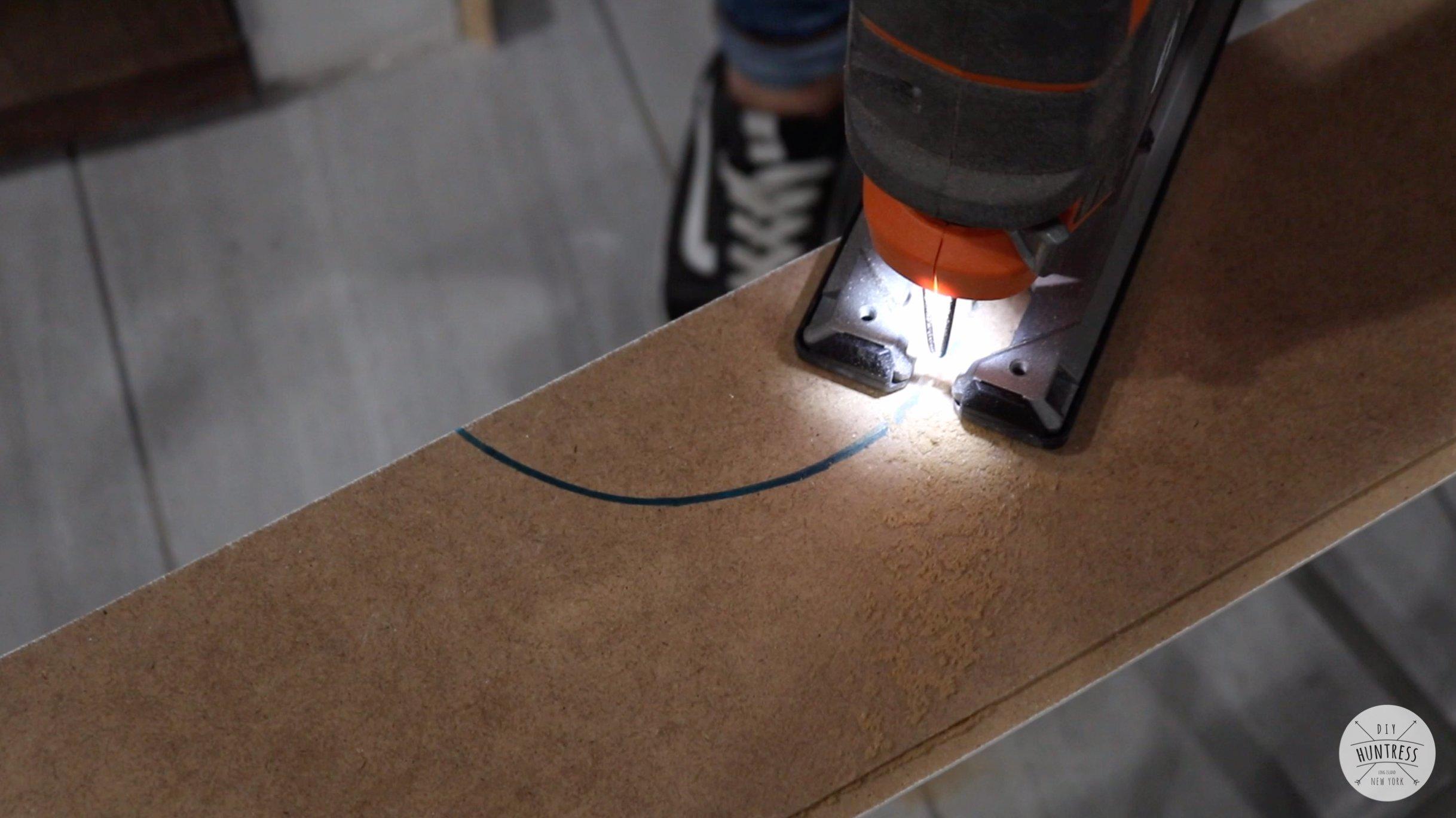 how to cut around lights