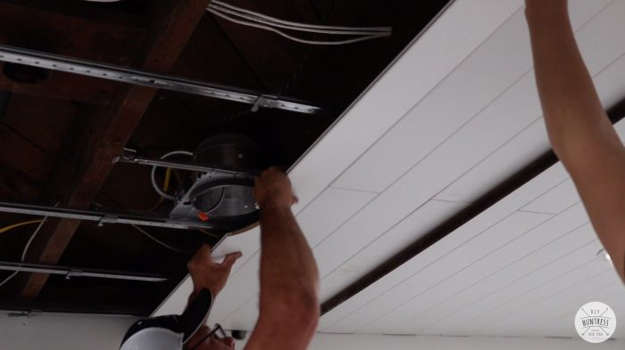 how to install wood planks on ceiling