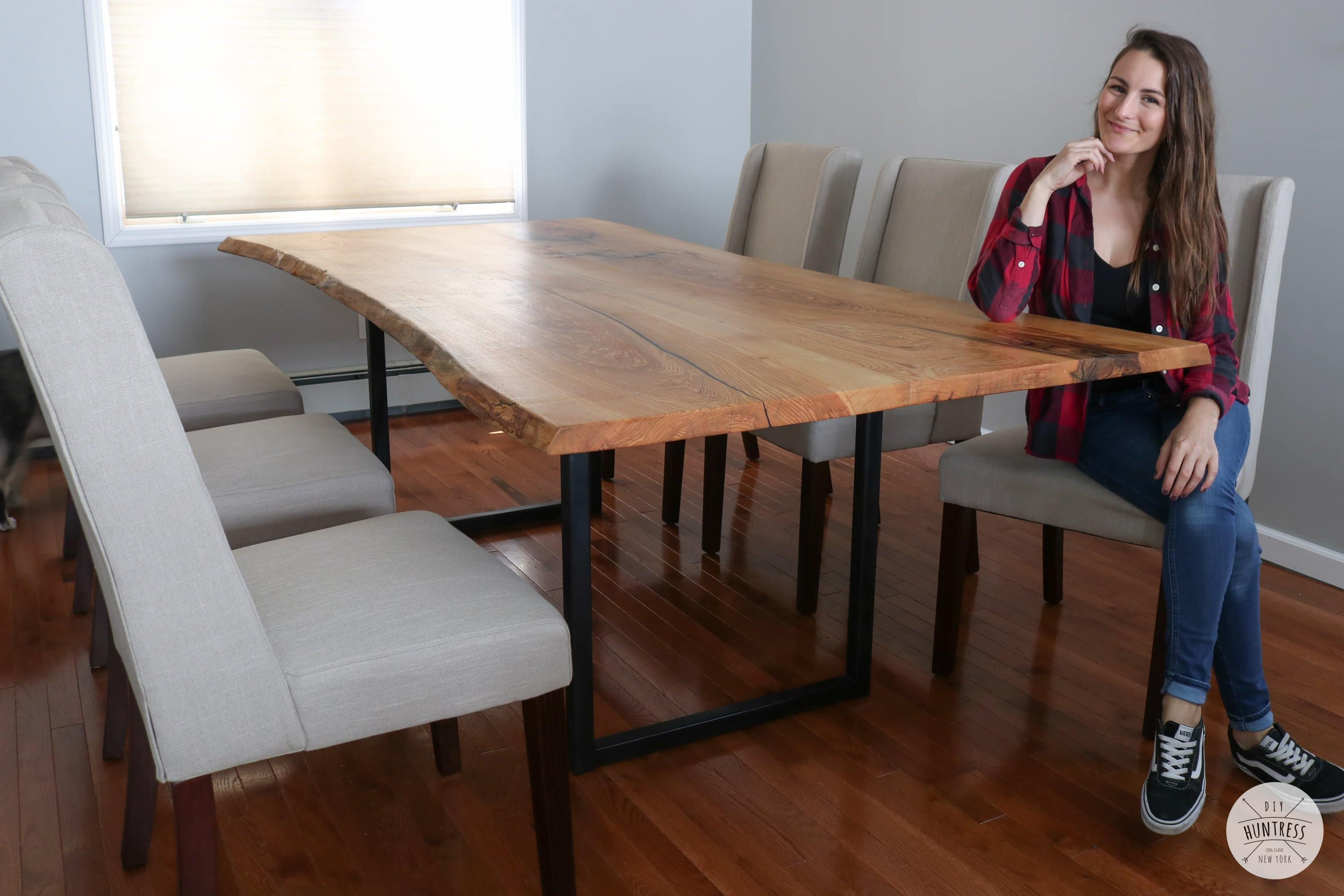 Diy Live Edge Dining Table Diy Huntress