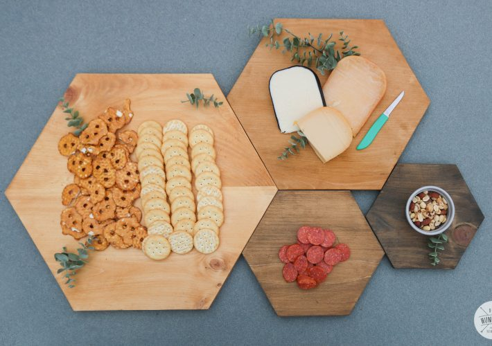 modern wood serving tray set