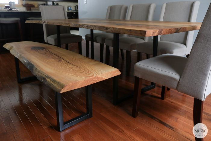 diy live edge dining table with metal base