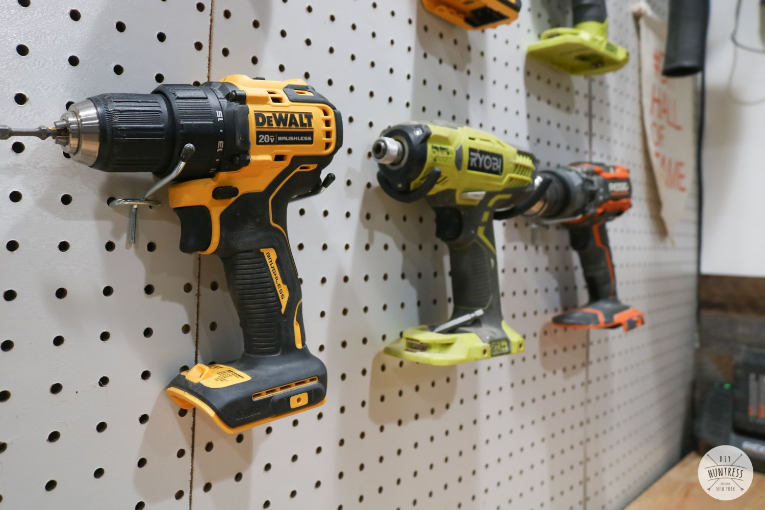 how to hang tools on pegboard
