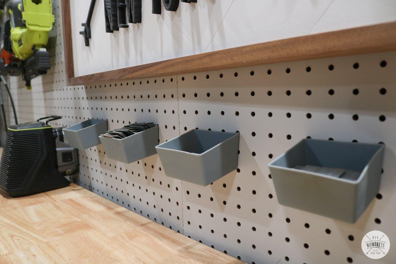 pegboard organizer bins