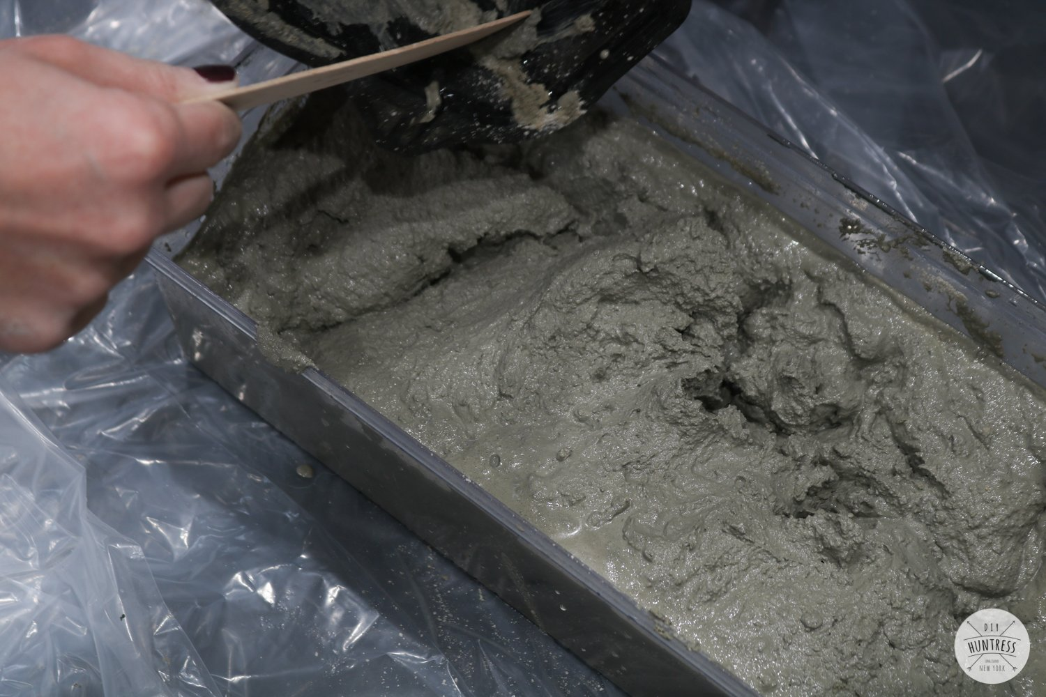 how to make concrete mold