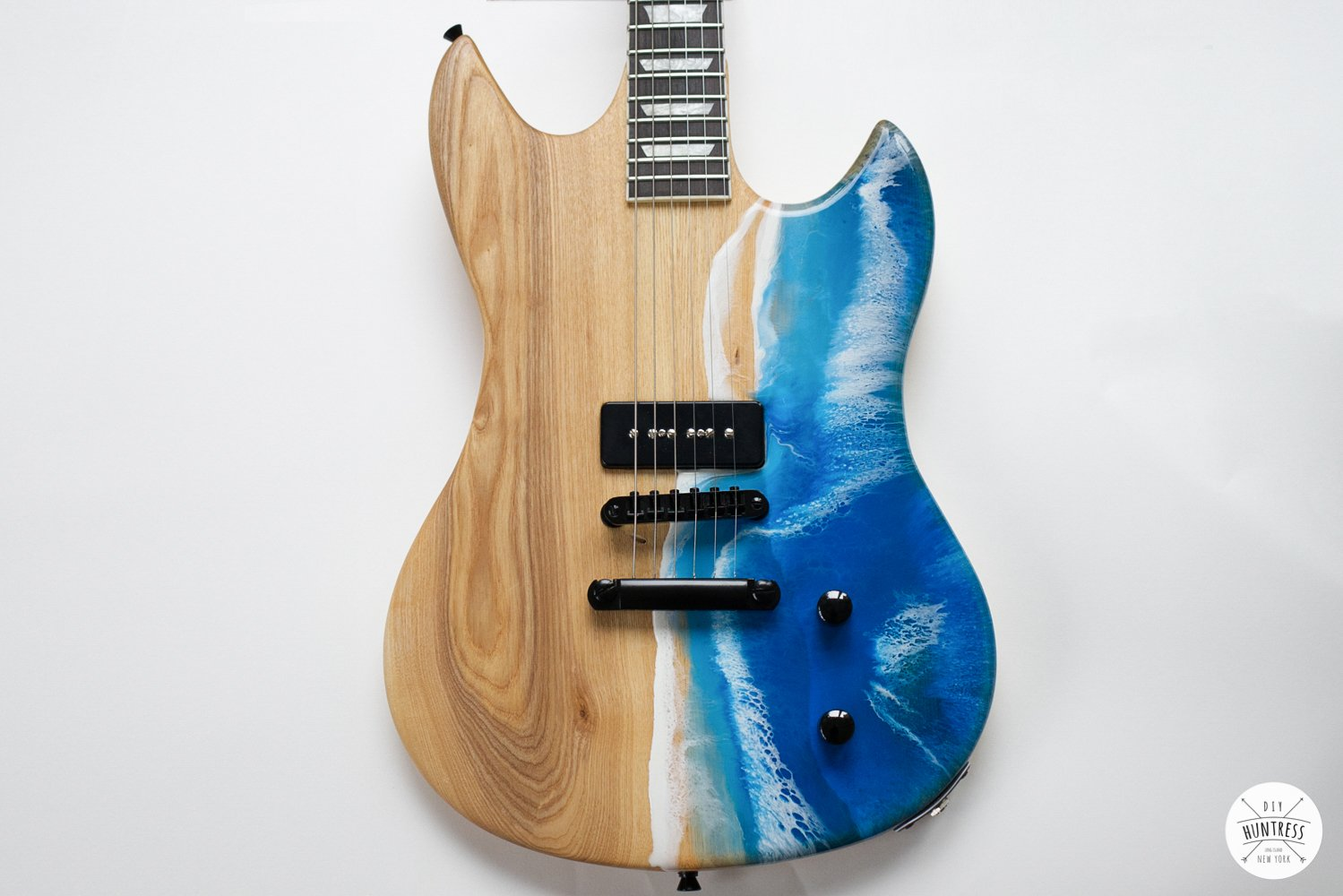 DIY Resin Ocean Pour On A Guitar