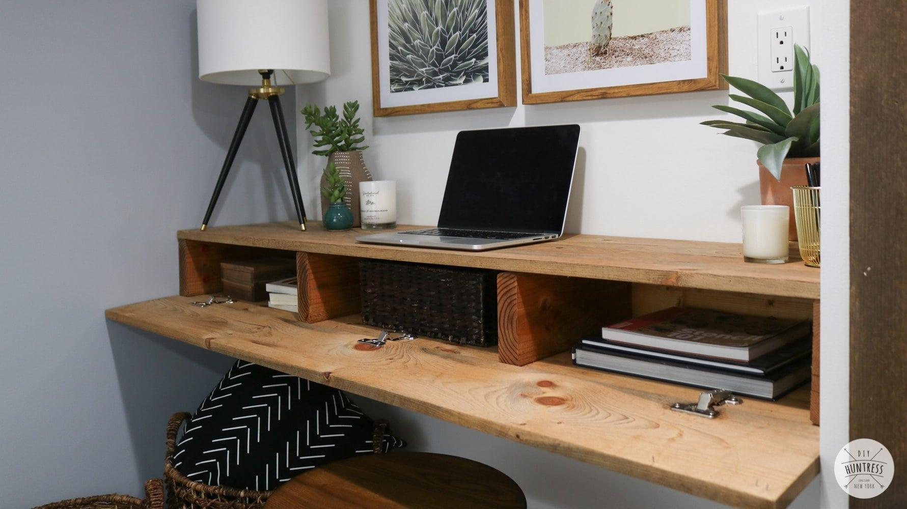 diy-floating-desk-hidden-storage-45 - DIY Huntress