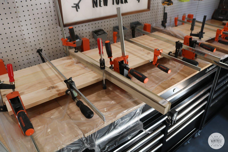 gluing up wood panels