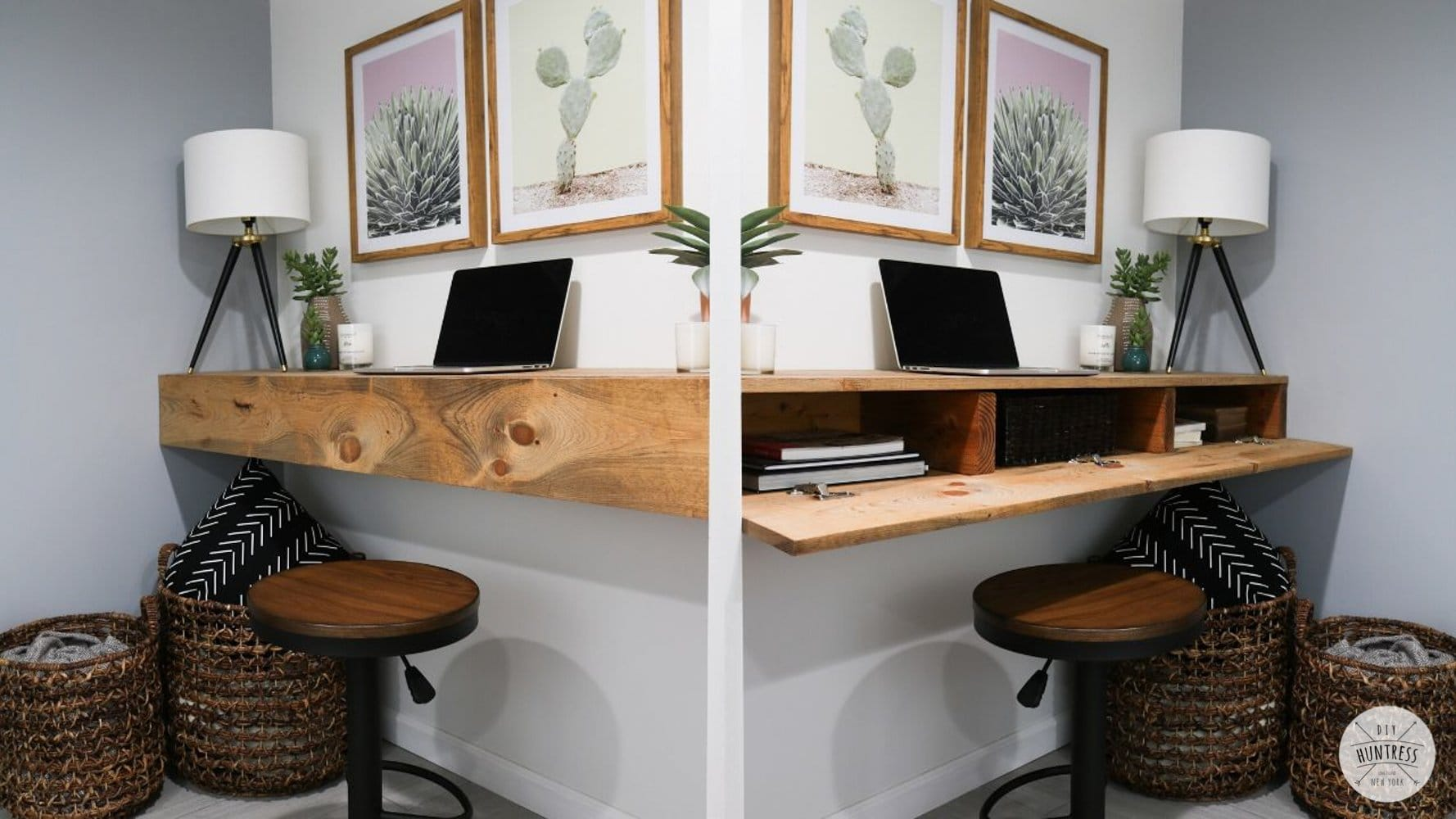 DIY Floating Desk With Hidden Storage
