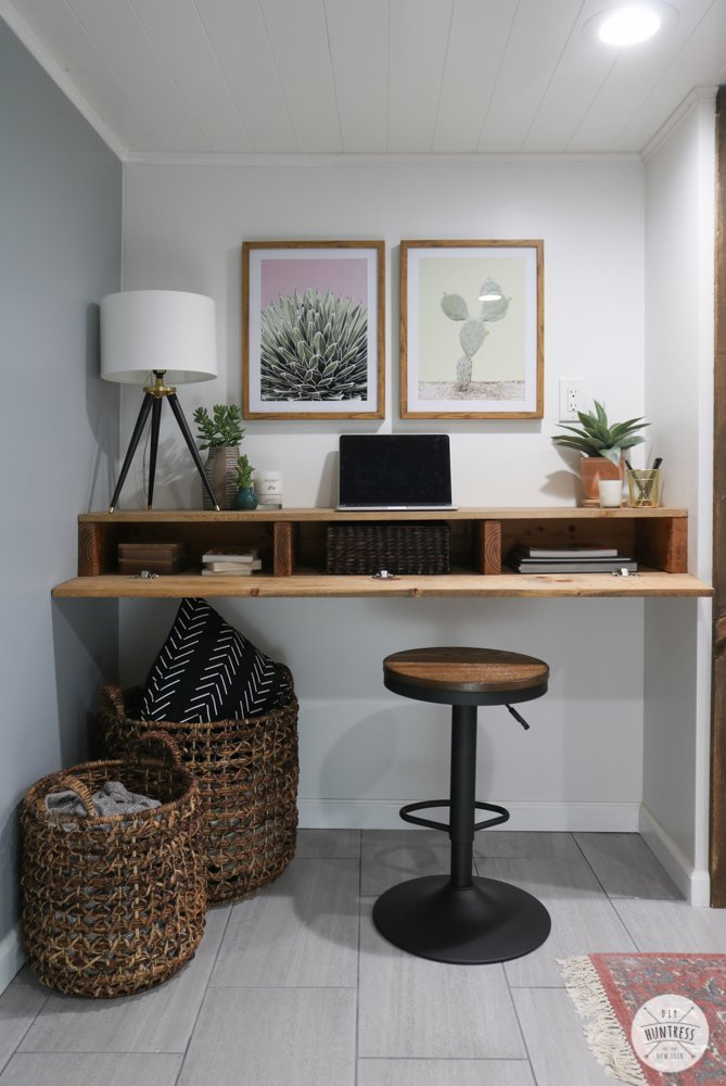 diy desk with hidden storage