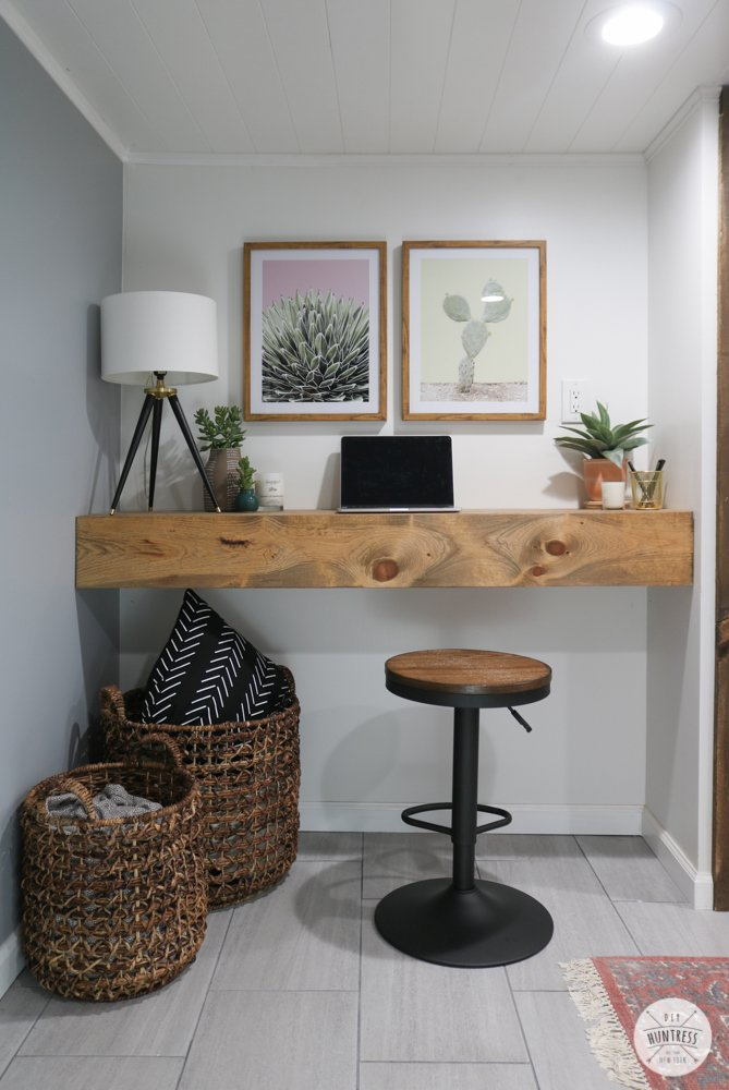how to build a floating desk