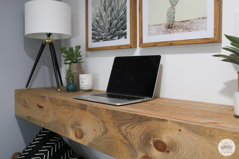diy floating desk hidden storage 7