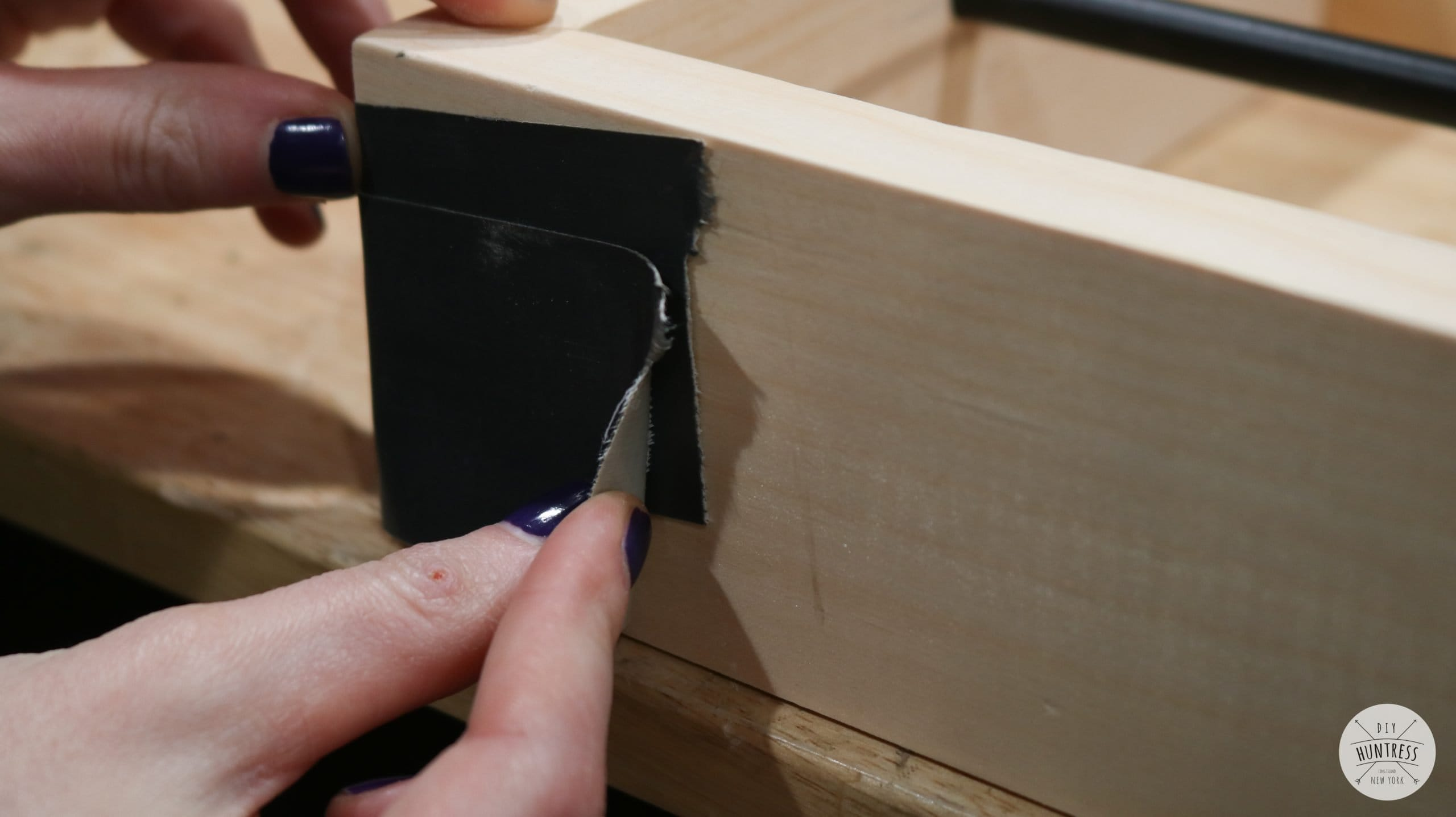 how to tape miter joints