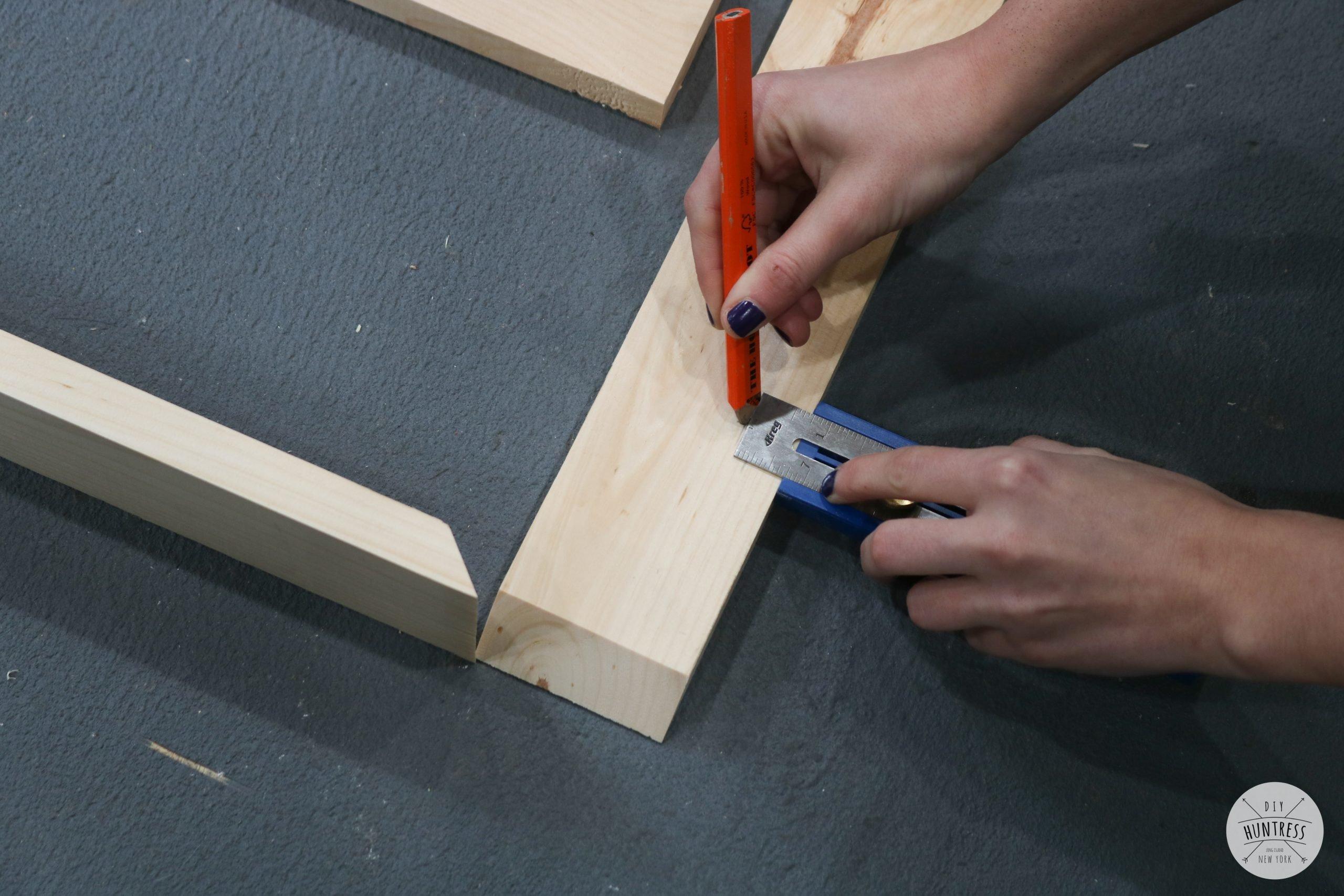 marking measurements on wood