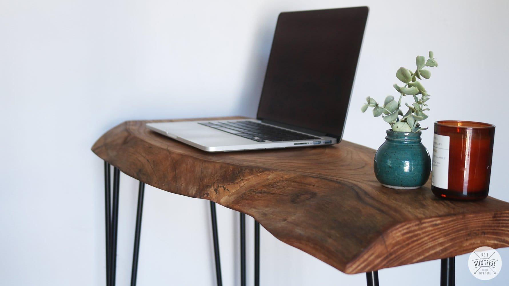 how to make a live edge desk