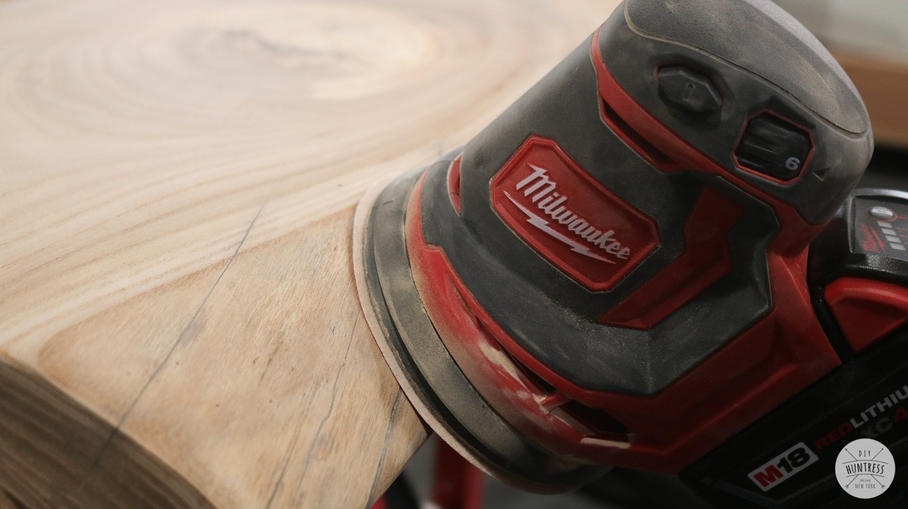 how to sand live edge