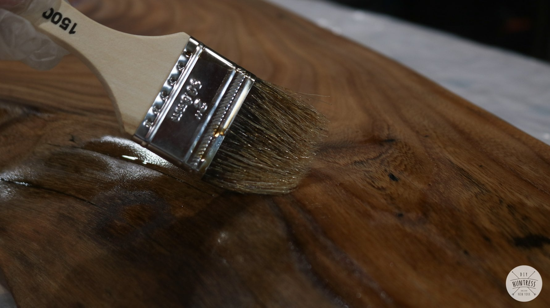 sealing live edge wood