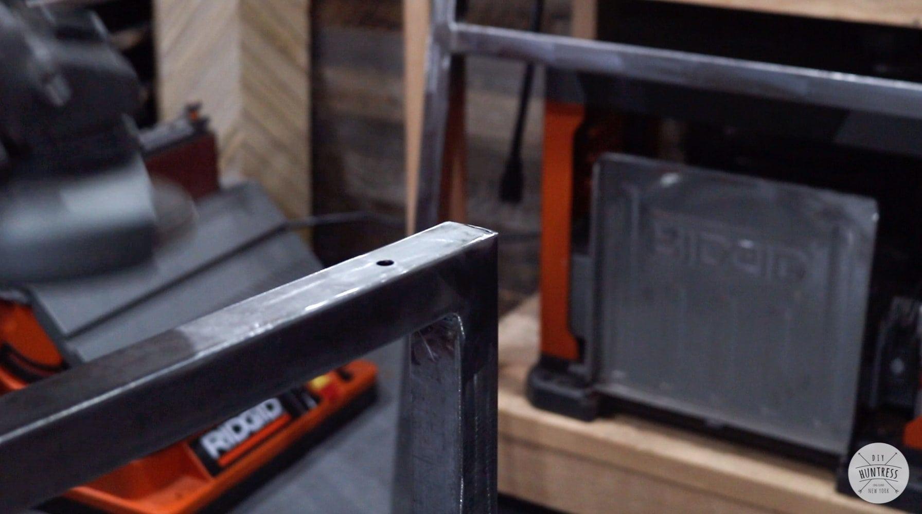 installing hardware in metal