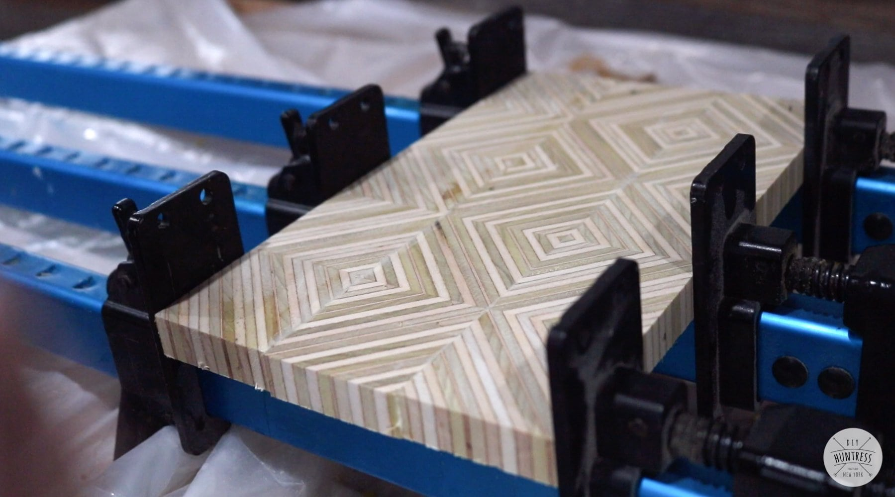 diamond plywood pattern