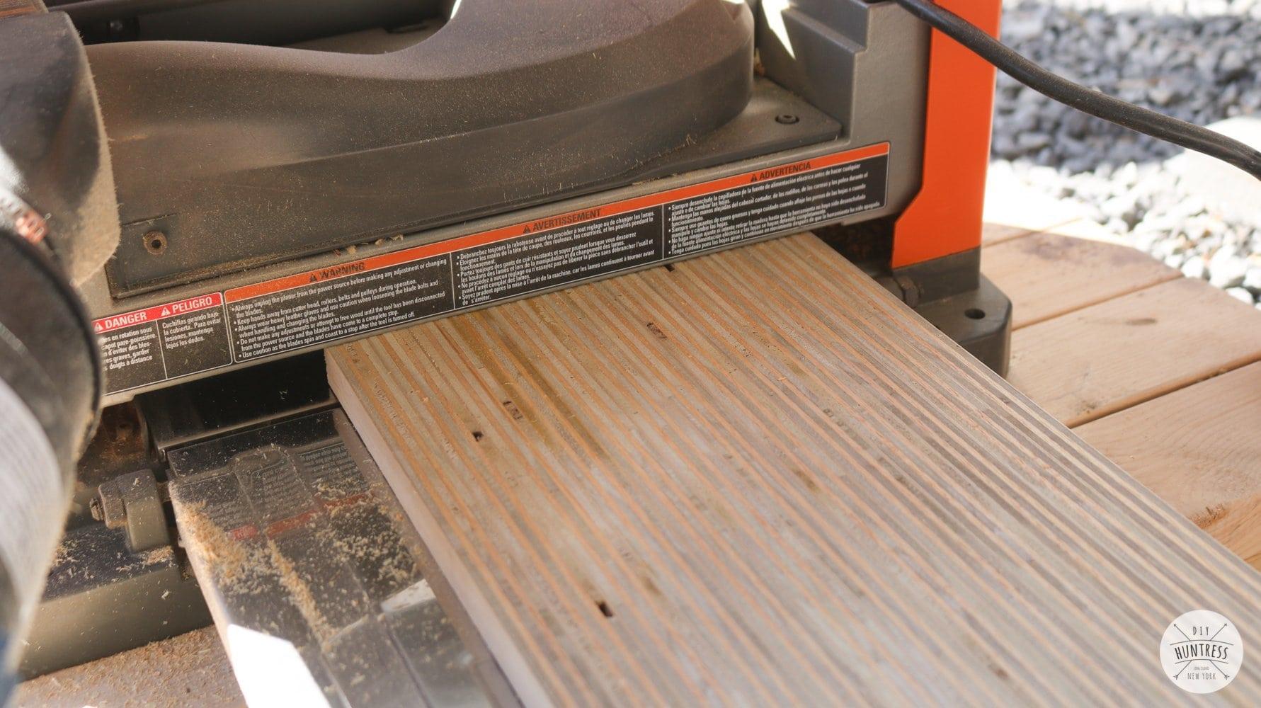 planing plywood