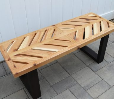 wooden bench for backyard