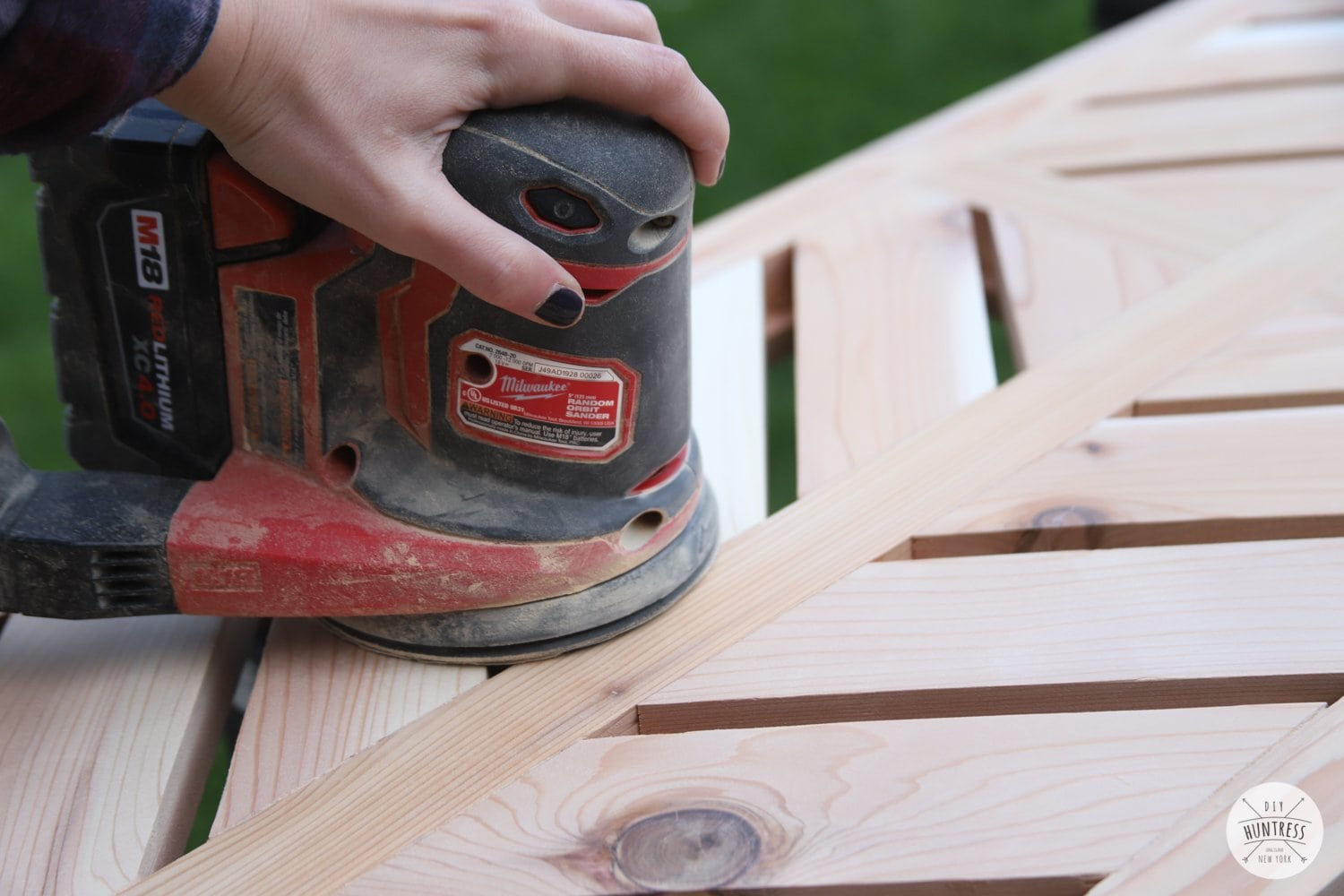sanding cedar furniture