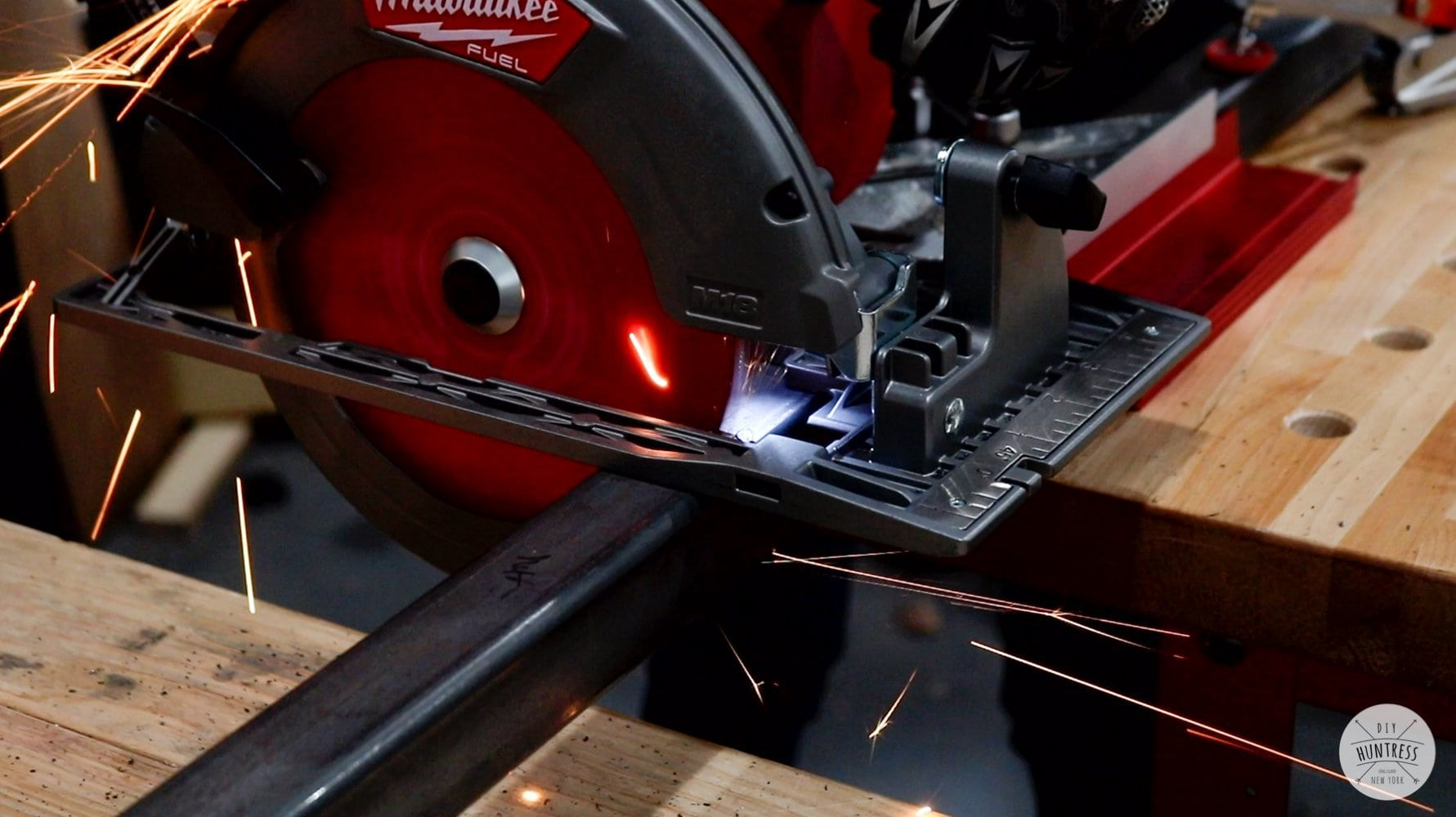 cutting metal with circular saw