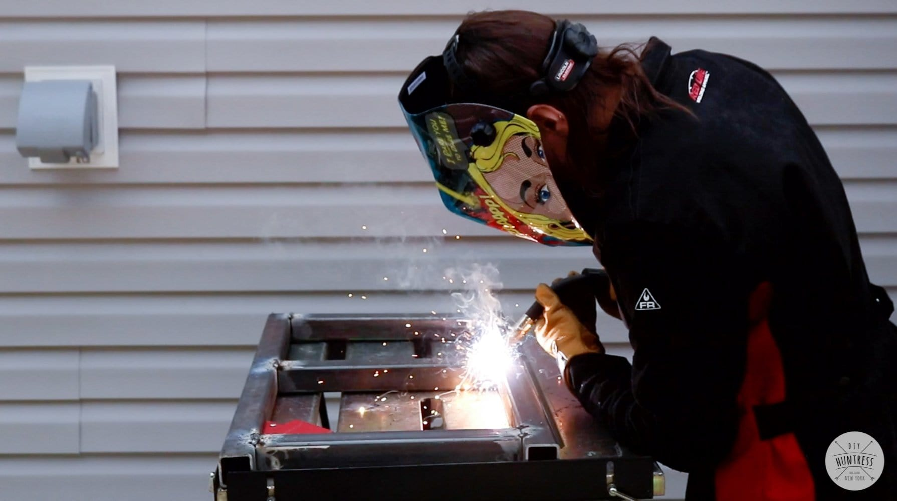 how to weld steel at home