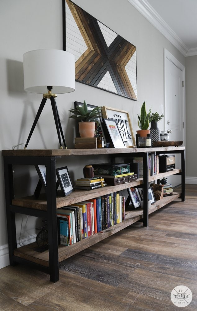 long display bookshelf