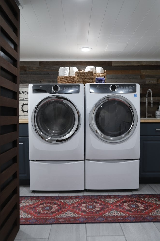 how to renovate a basement laundry room