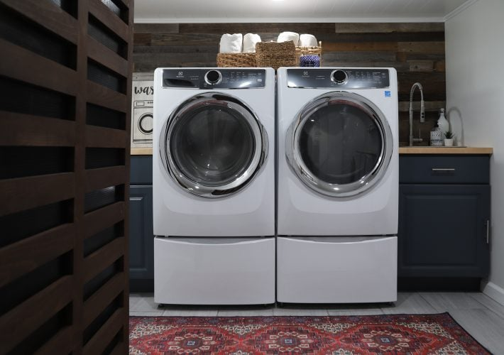 small basement laundry room renovation ideas